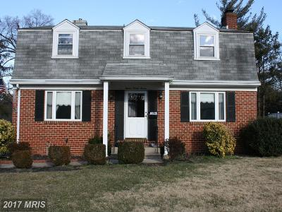 Catonsville Single Family Home For Sale: 1527 Adamsview Road