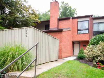 Hunt Valley, Lutherville Timonium Townhouse For Sale: 206 Deer Fox Lane