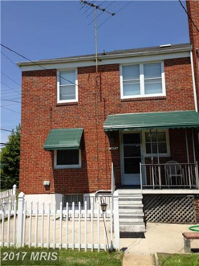Towson Townhouse For Sale: 1405 E Joppa Road