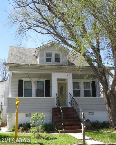 Baltimore Single Family Home For Sale: 2514 Snyder Avenue S