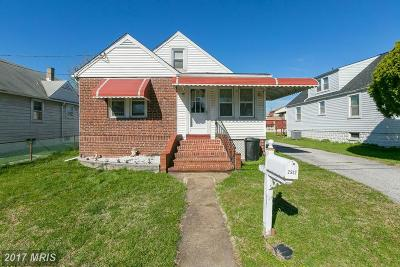 Baltimore Single Family Home For Sale: 2502 Pac Lane