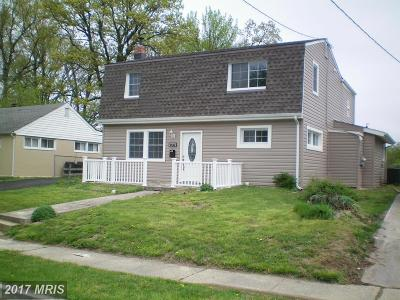 Baltimore Single Family Home For Sale: 1645 Frenchs Avenue SE