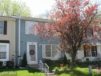 Reisterstown Townhouse For Sale: 647 Saint Georges Station Road
