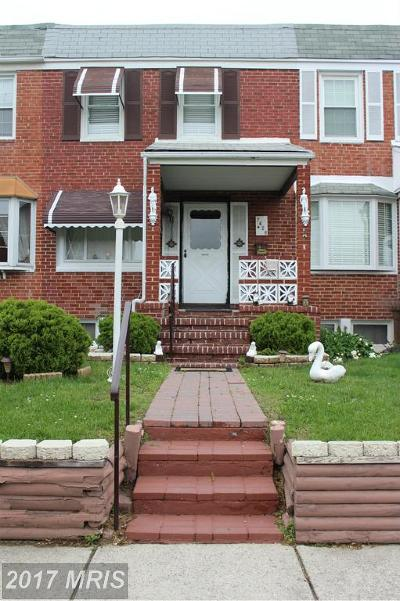 Baltimore Townhouse For Sale: 7426 Manchester Road