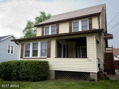 Halethorpe Single Family Home For Sale: 4502 Ridge Avenue