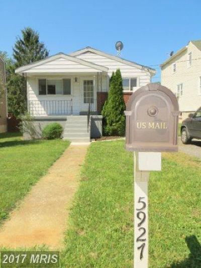 Single Family Home For Sale: 5927 Central Avenue