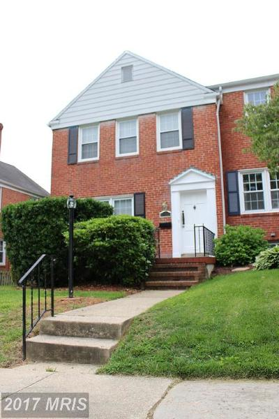 Towson Townhouse For Sale: 1627 Cottage Lane