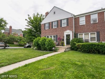 Towson Townhouse For Sale: 8141 Glen Gary Road