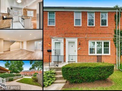 Towson Townhouse For Sale: 8109 Kirkwall Court