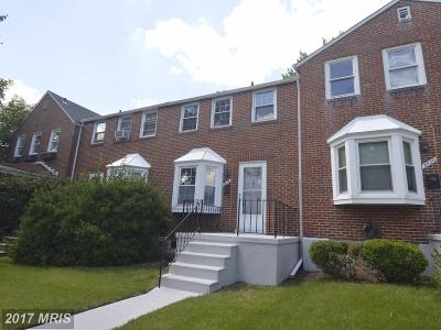 Baltimore Townhouse For Sale: 8418 Loch Raven Boulevard