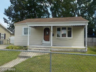 Baltimore Single Family Home For Sale: 119 Glider Drive