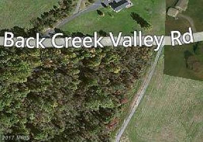 Martinsburg Residential Lots & Land For Sale: Back Creek Valley Road
