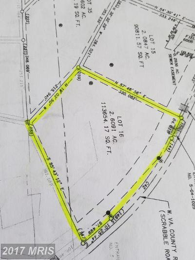 Martinsburg Residential Lots & Land For Sale: Lot 16 Scrabble Rd