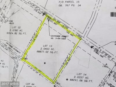 Martinsburg Residential Lots & Land For Sale: Lot 13 Scabble Rd