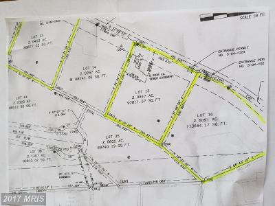 Martinsburg Residential Lots & Land For Sale: Lots 13, 15, 16 Scrabble Rd
