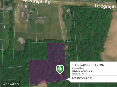 Elkton Residential Lots & Land For Sale: Telegraph Road