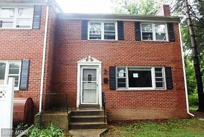 Indian Head MD Townhouse For Sale: $63,300