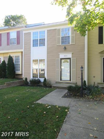 Waldorf Townhouse For Sale: 3633 Kempsford Field Place
