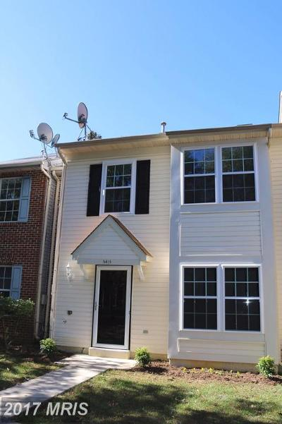 Waldorf Townhouse For Sale: 5415 Harvest Fish Place