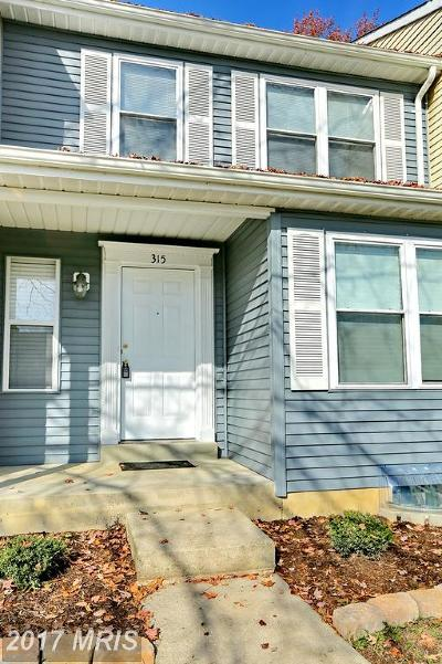 Waldorf Townhouse For Sale: 315 Woodside Place