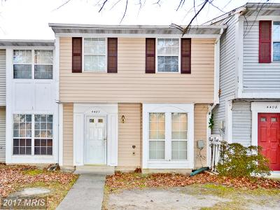 Waldorf Townhouse For Sale: 4407 Eagle Court