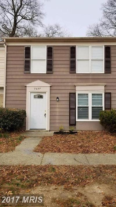 Waldorf Townhouse For Sale: 2637 Rooks Head Place