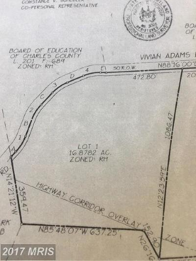 Waldorf Residential Lots & Land For Sale: 12105 Vivian Adams Drive