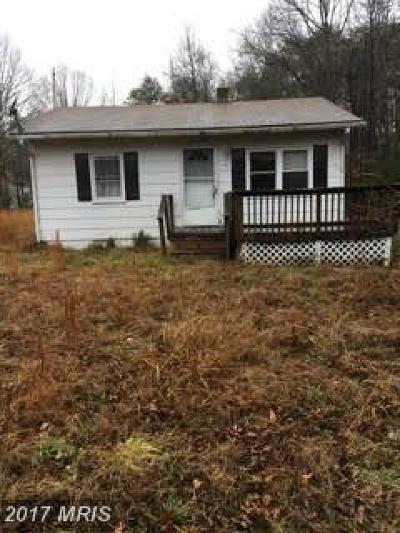 Nanjemoy MD Single Family Home For Sale: $89,000
