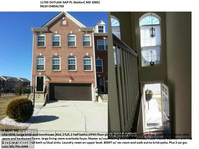 Waldorf Townhouse For Sale: 11703 Outlaw Gap Place