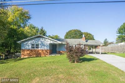 Sykesville Single Family Home For Sale: 6616 Monroe Avenue