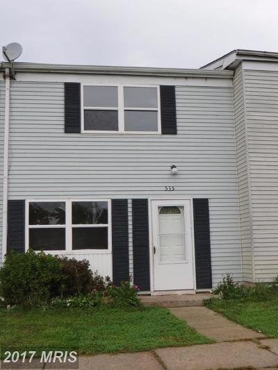 Taneytown Townhouse For Sale: 535 Daisy Drive