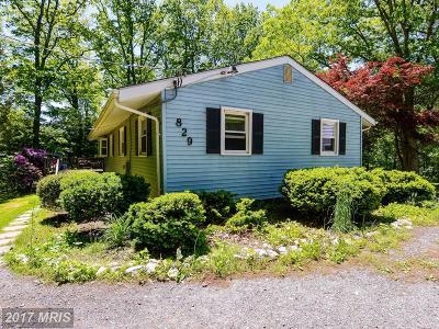 Sykesville Single Family Home For Sale: 829 Streaker Road