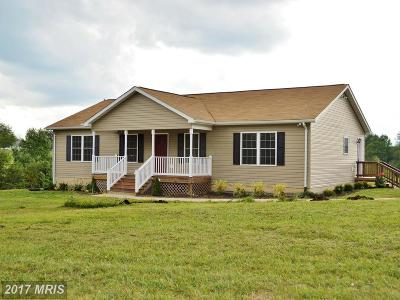 Stafford, Caroline, King George, Culpeper, Orange Single Family Home For Sale: 7595 Griffinsburg Road