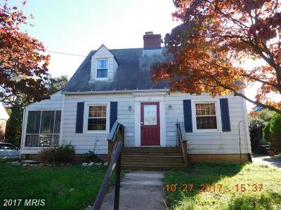 Culpeper Single Family Home For Sale: 117 Scanlon Street W