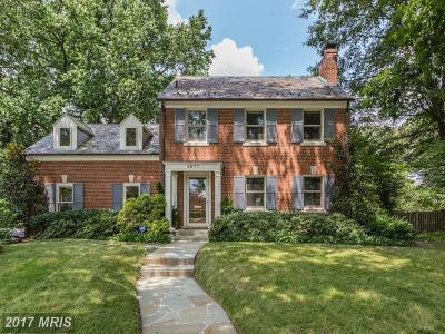 Single Family Home For Sale: 4927 Sedgwick Street NW