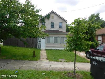 Washington DC Single Family Home For Sale: $219,000