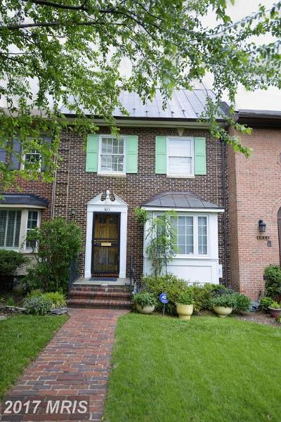 Washington DC Townhouse For Sale: $798,500