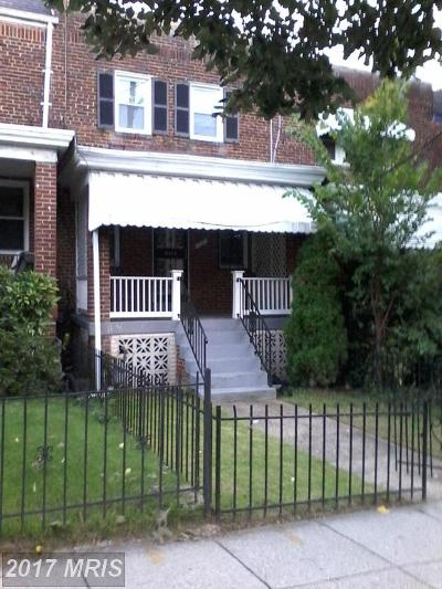 Washington Townhouse For Sale: 1631 R Street SE