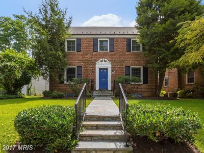 Washington Single Family Home For Sale: 1610 Myrtle Street NW