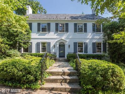 Washington DC Single Family Home For Sale: $2,495,000