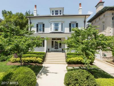 Kalorama Single Family Home For Sale: 2203 Wyoming Avenue NW