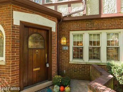 Washington Townhouse For Sale: 1550 44th Street NW