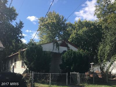 Washington DC Single Family Home For Sale: $125,000