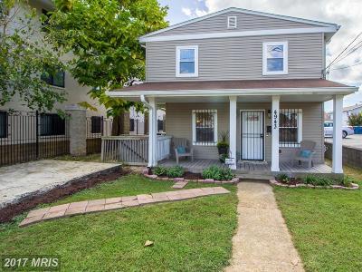 Washington Single Family Home For Sale: 4943 A Street SE