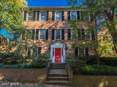 Georgetown Single Family Home For Sale: 1625 31st Street NW