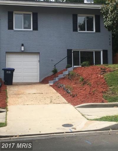 Brookland Single Family Home For Sale: 1429 Otis Street NE