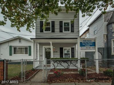 Washington Single Family Home For Sale: 2236 Nicholson Street SE