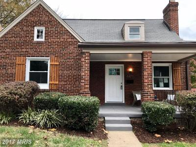 Washington Single Family Home For Sale: 6611 7th Street NW
