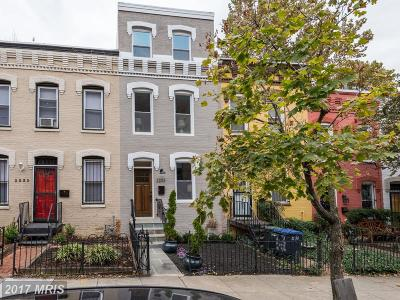 Washington Townhouse For Sale: 2233 10th Street NW