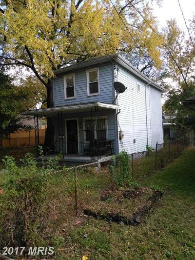 Washington DC Single Family Home For Sale: $226,000